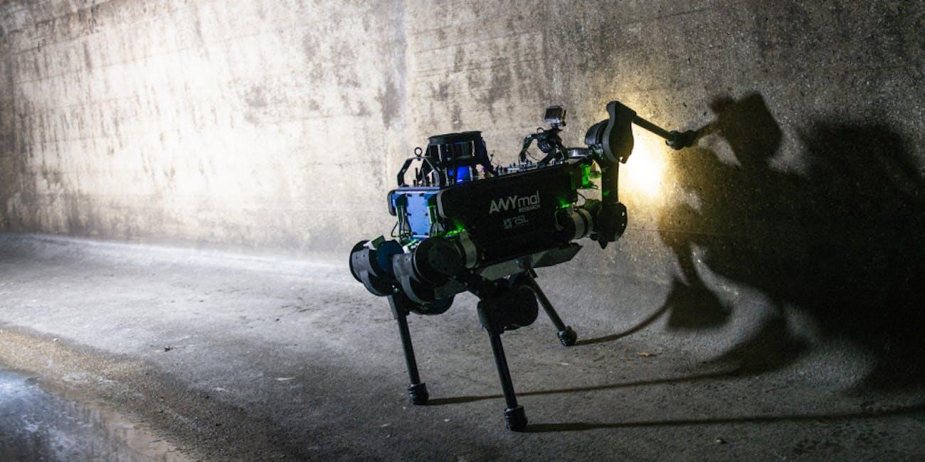 robot dog ANYmal sewer