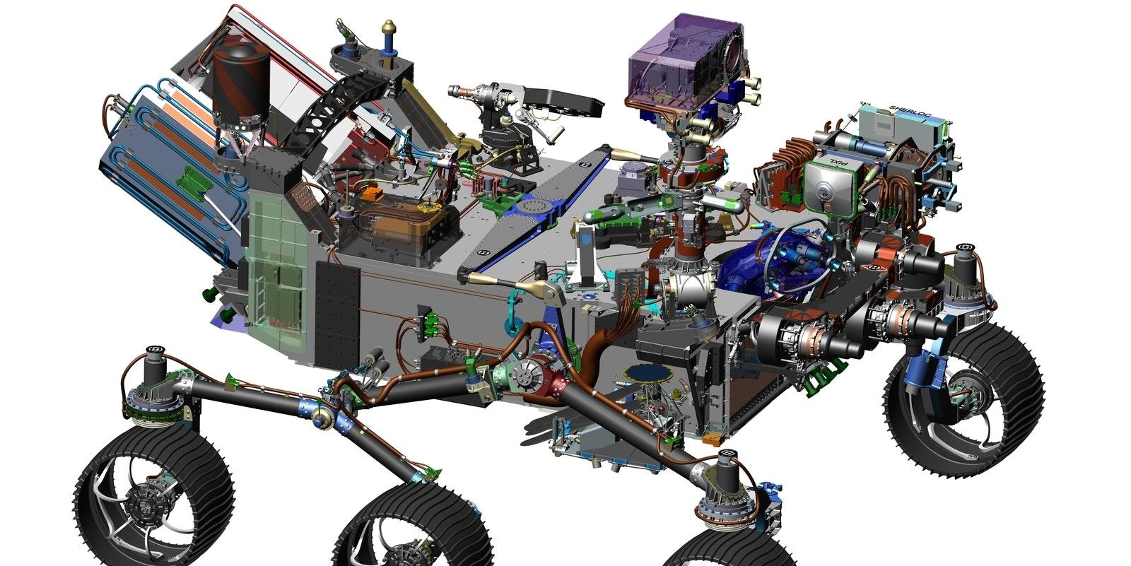 Concept design for Mars 2020 rover
