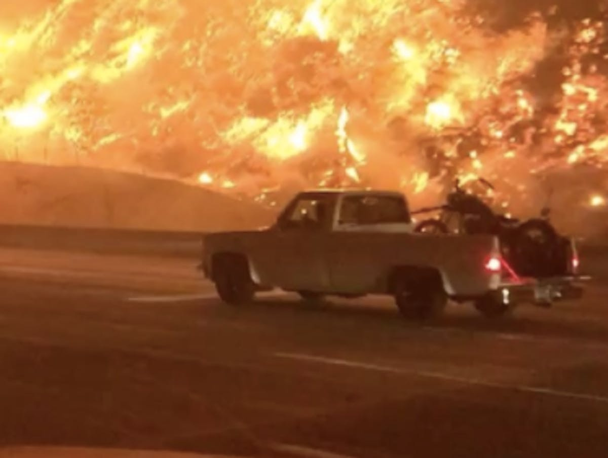 California Wildfires Create Real-Life 'Highway to Hell' in