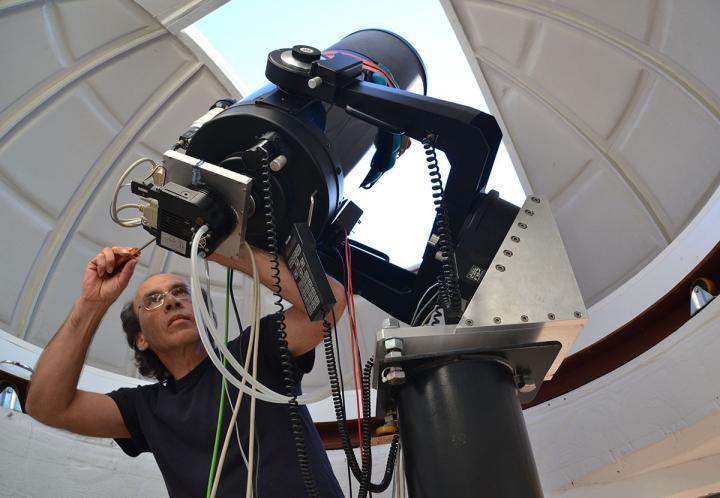 Amateur astronomer Andre van Staden