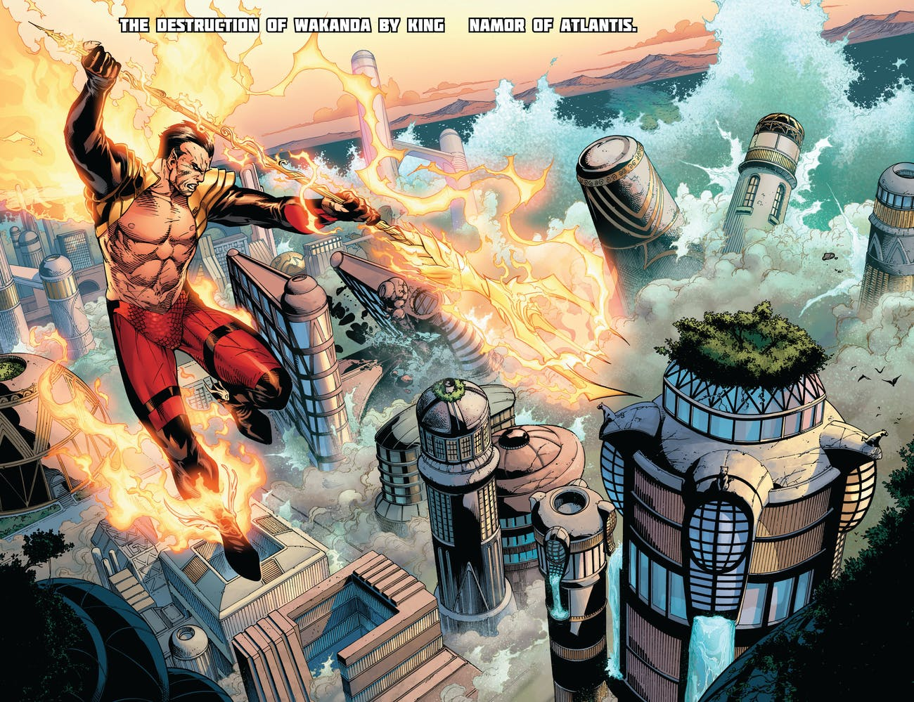 Avengers vs X-Men Namor Floodds Wakanda