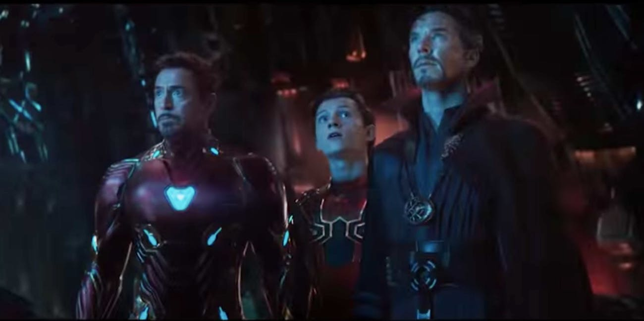 Iron Man, Spider-Man and Doctor Stranger in 'Avengers: Infinity War'