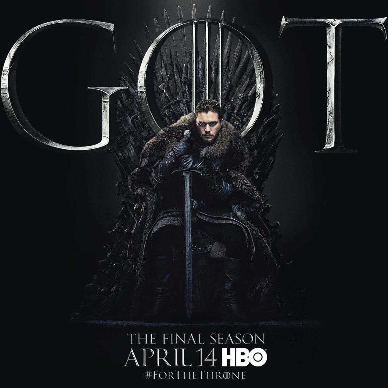 game of thrones season 8 poster jon snow