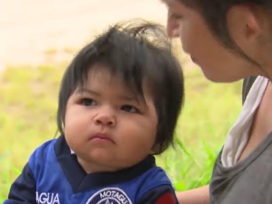 border toddler baby separation