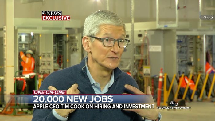 Tim Cook Apple CEO ABC interview.
