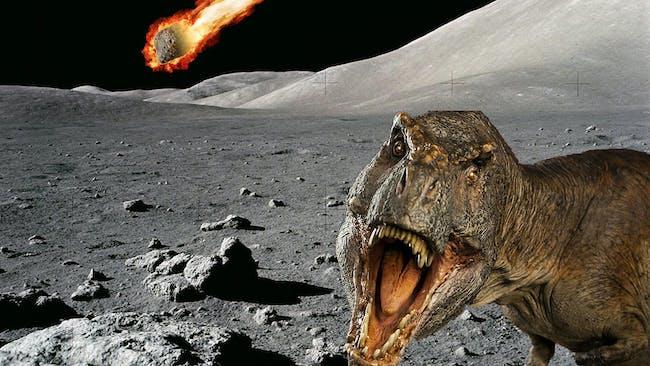 asteroid impact dinosaur moon