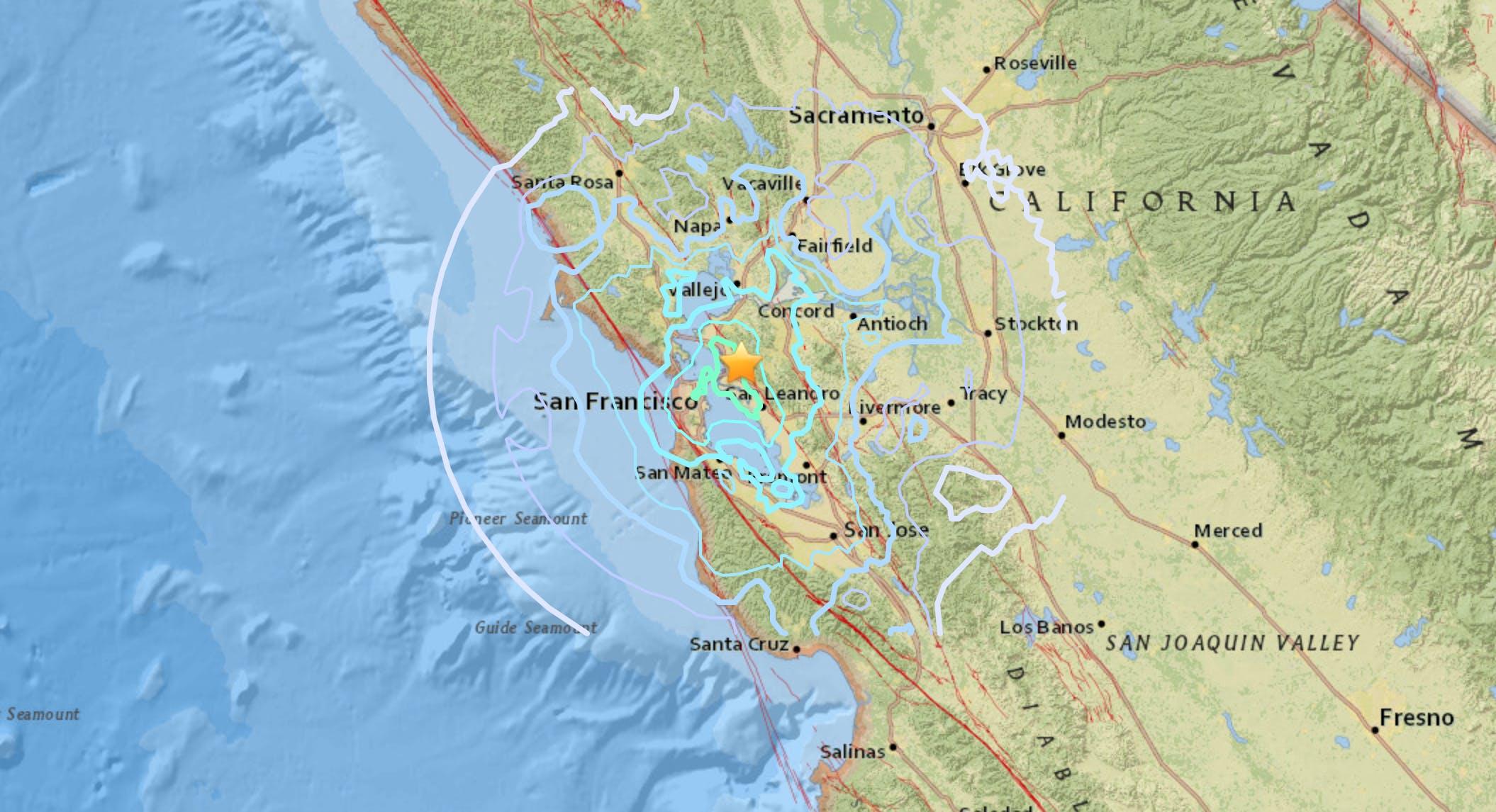 San Francisco Earthquake 3 Maps That Explain The 4 5 Magnitude