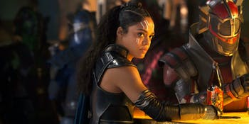 "Tessa Thompson as Valkyrie in ""Thor: Ragnarok."""