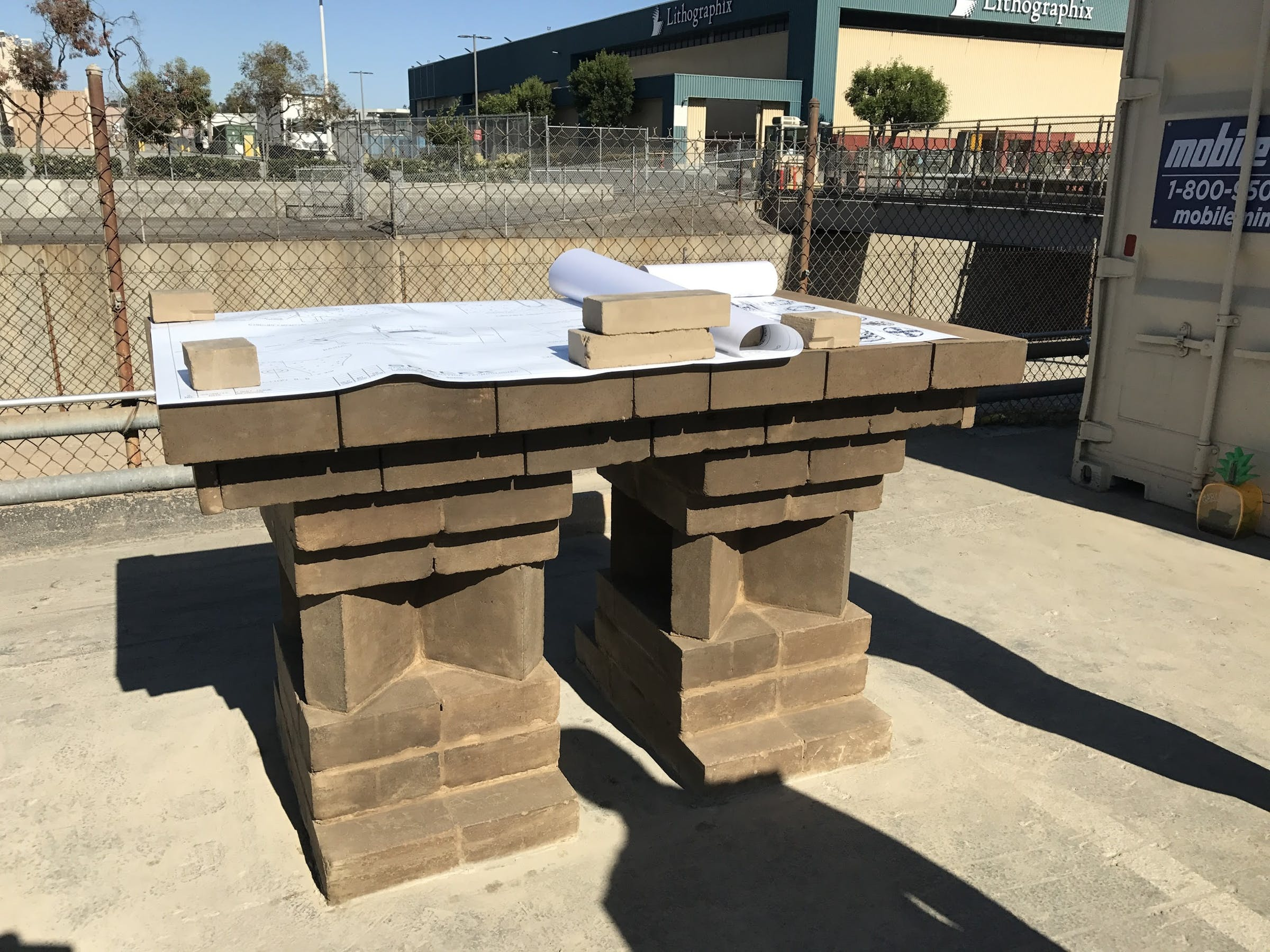Boring company bricks