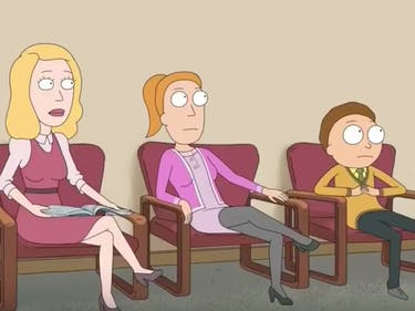 Beth, Summer, and Morty are all horrified by the idea of eating poop.