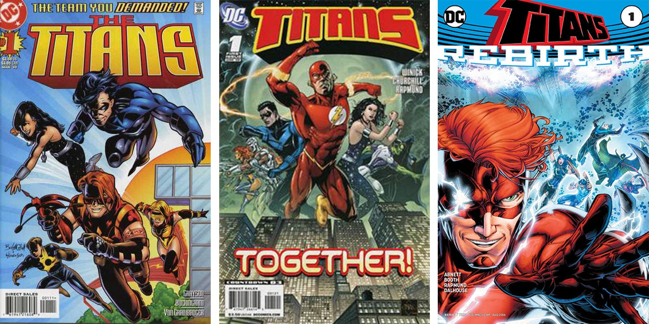 Some 'Titans' covers over the years.