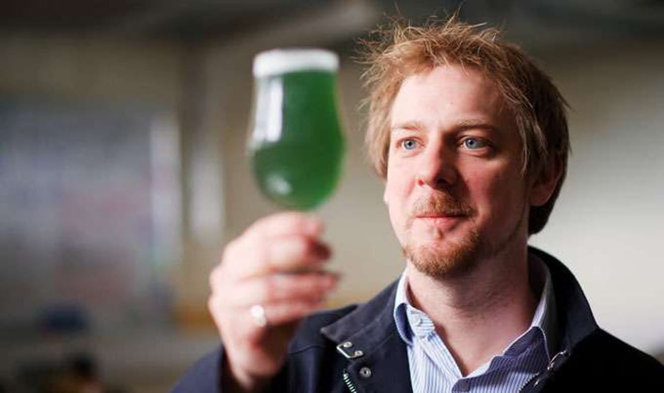 Dr. Chris O'Malley with the St Patrick's Day pint.