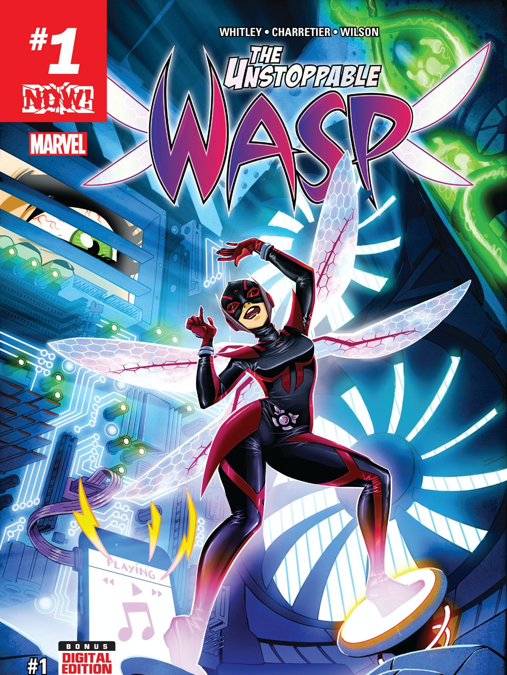 Cover for Wasp #1 by Elsa Charretier for Marvel Comics