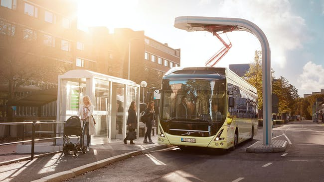 The Volvo 7900 Electric bus.