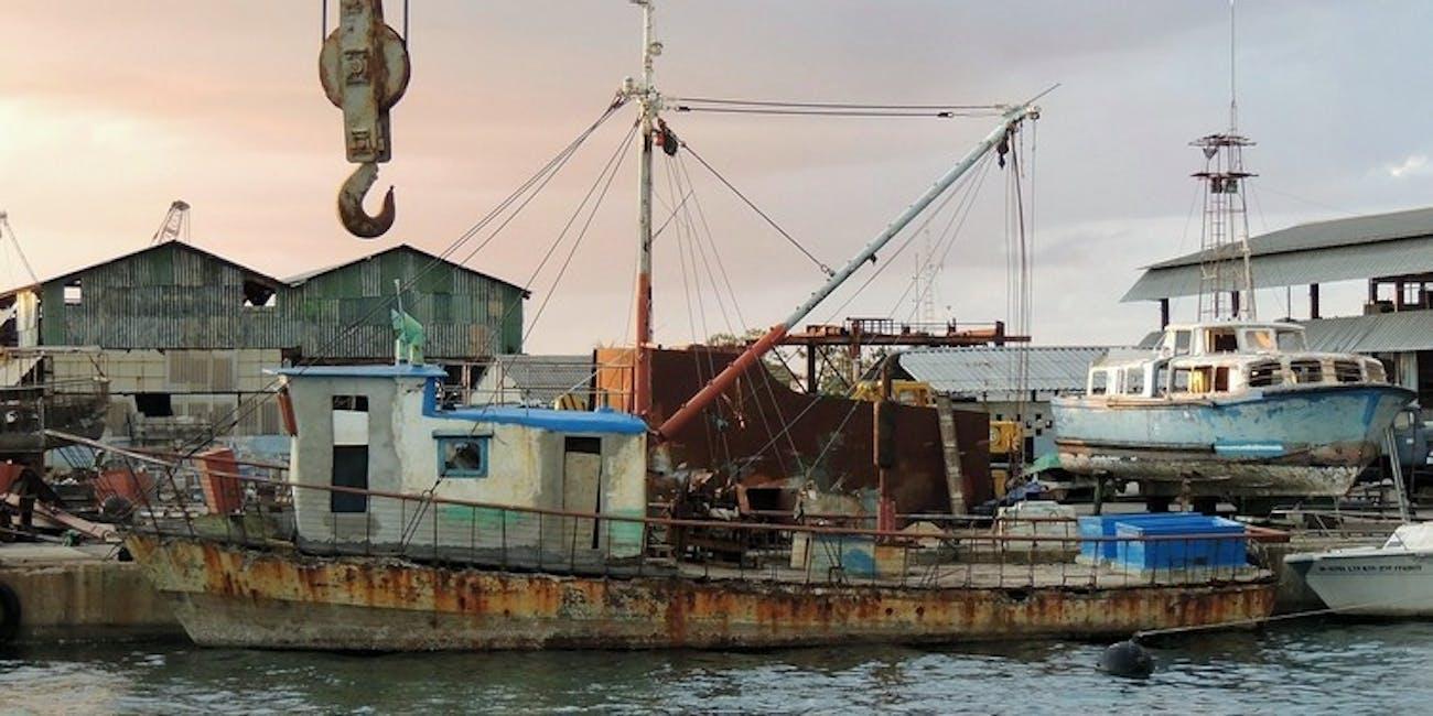 Cuba fishing boat trawler harbor Caribbean