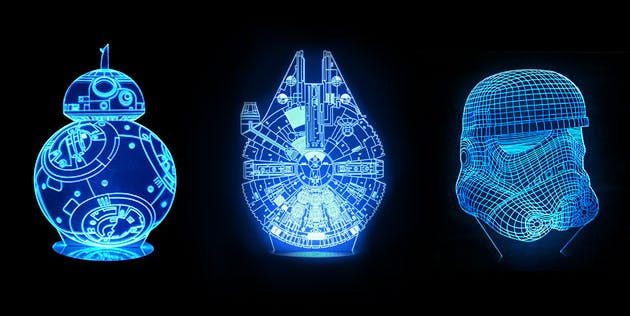 Star Wars 3D Mega Lamps millennium falcon black friday
