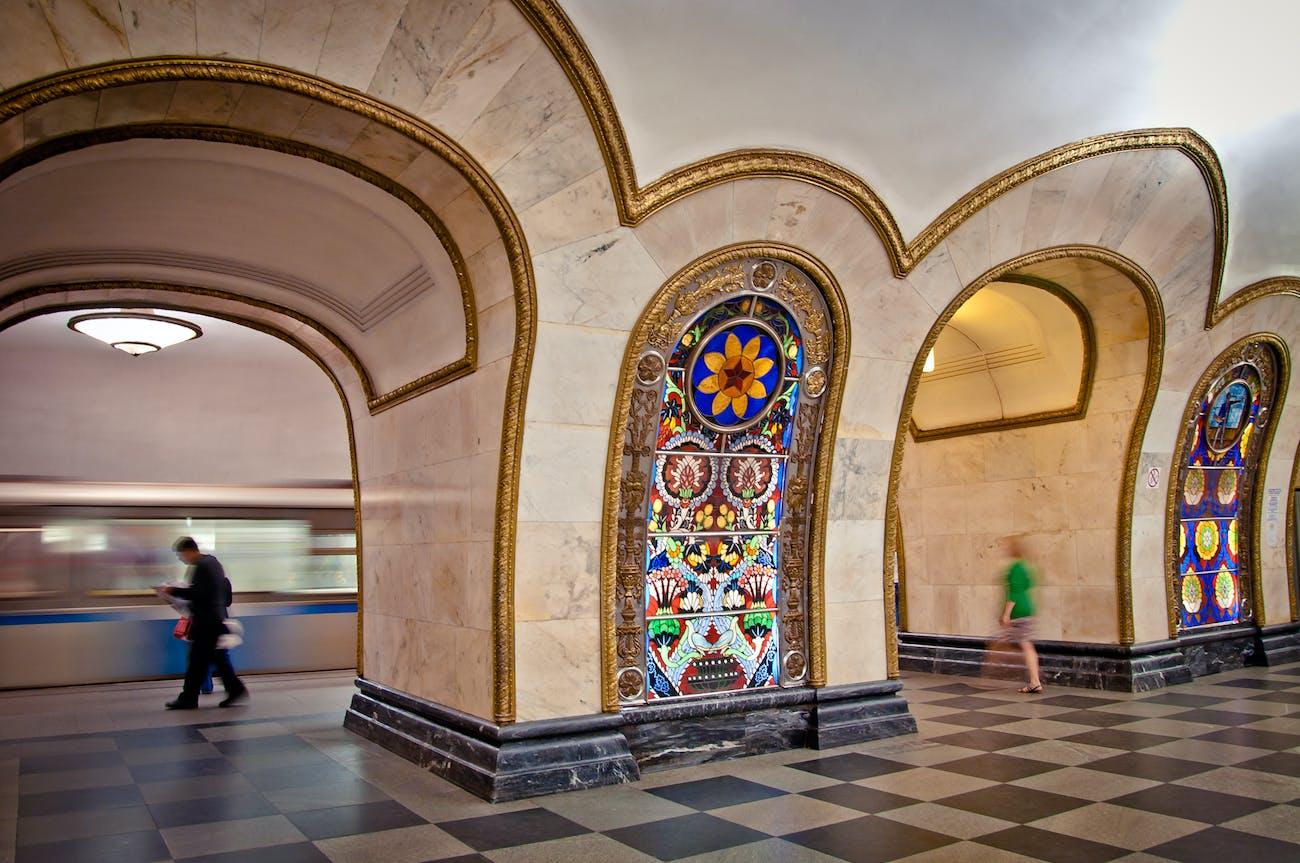 Novoslobodskaya Metro Station, Moscow