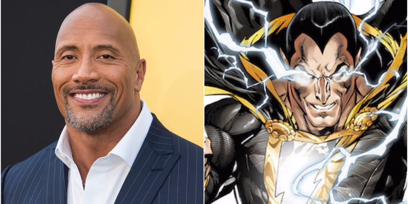 """Dwayne """"The Rock"""" Johnson and Black Adam from DC Comics and the upcoming 'Shazam' film"""