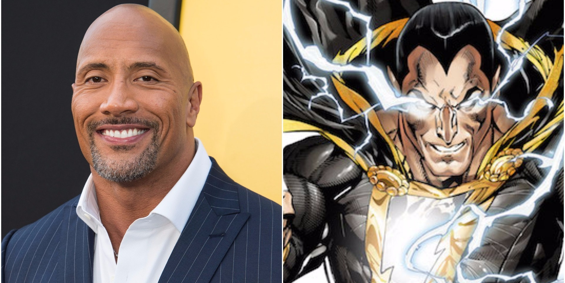 "Dwayne ""The Rock"" Johnson and Black Adam from DC Comics and the upcoming 'Shazam' film"