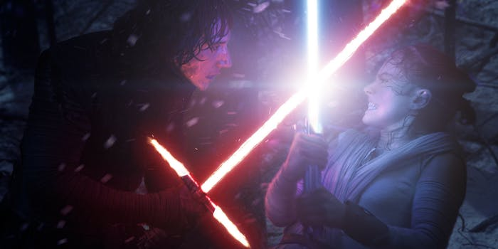 Star Wars: The Force Awakens forest fight
