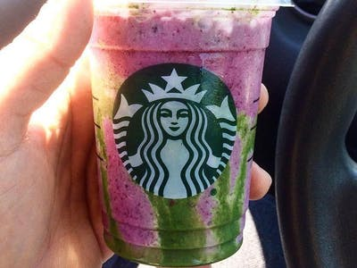 Here's the Starbucks Mermaid Frappuccino Recipe