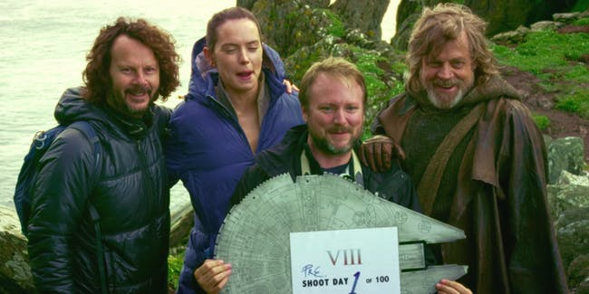 Behind-the-scenes of 'Star Wars: The Last Jedi'.