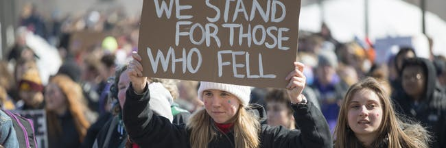 March For Our Lives student protest for gun control