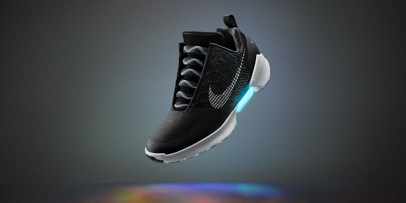 Nike self-tightening shoes