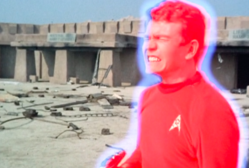 "A common redshirt: this dude gets vaporized in the original 'Star Trek' episode ""Arena."""