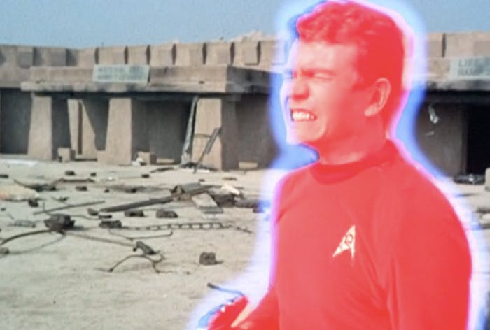 """A common redshirt: this dude gets vaporized in the original 'Star Trek' episode """"Arena."""""""