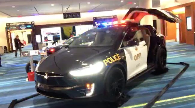 The Tesla Model X designed as an OPP cruiser.