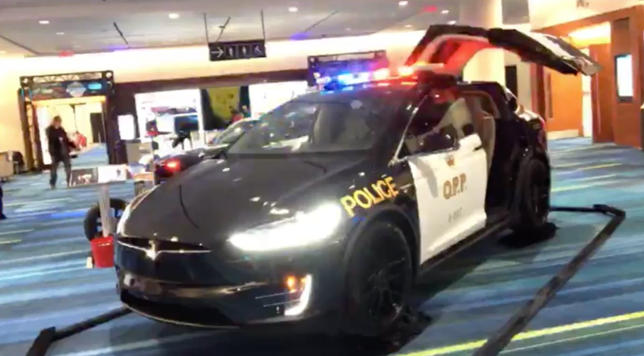 The Tesla Model X designed as an OPP cruiser.