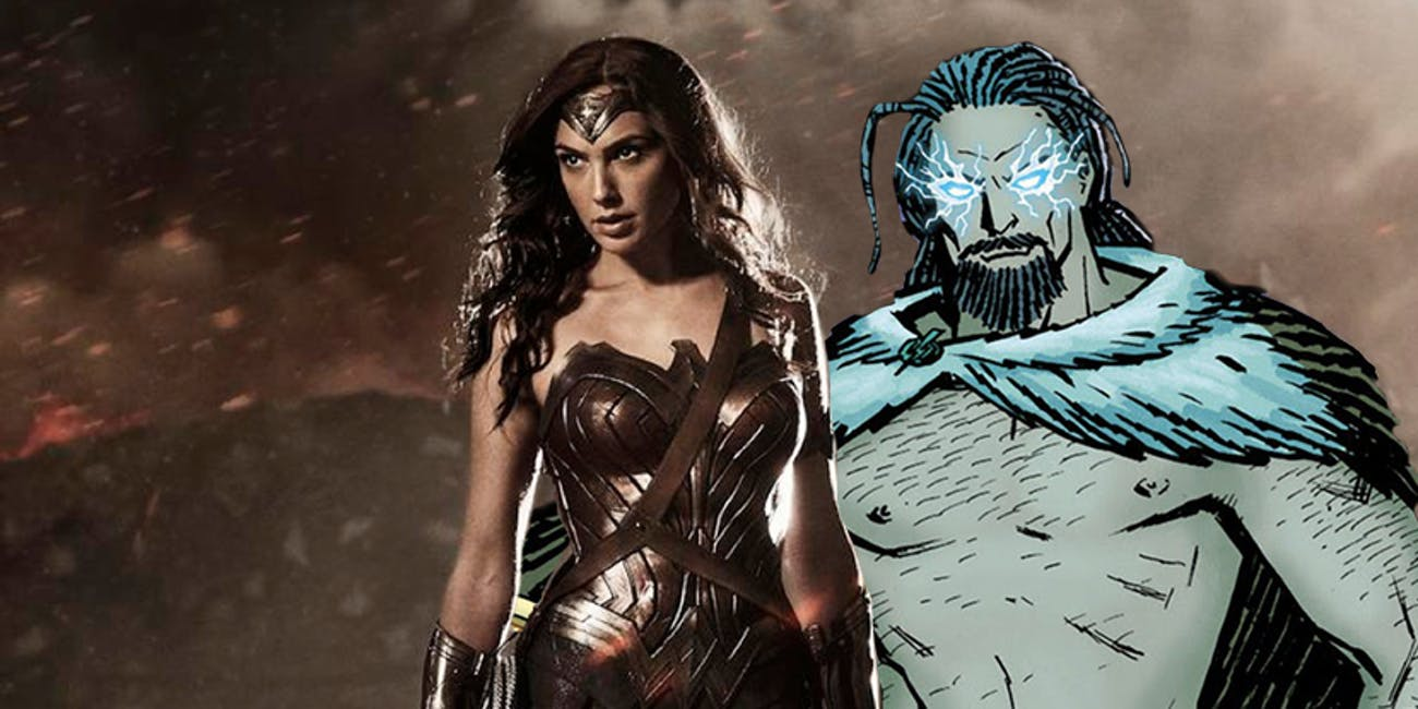 Wonder Woman and her father, Zeus