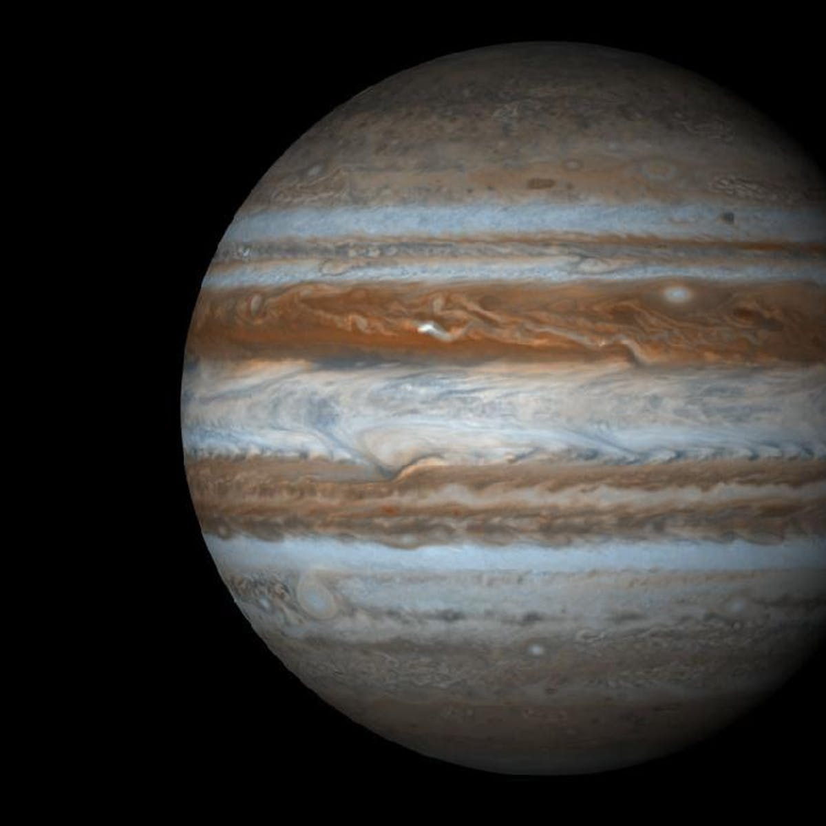 Slow-motion video captures the exact moment a meteor collides with Jupiter