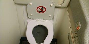 Airplane toilet. :s