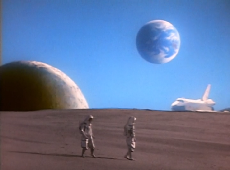 Although more of a rocket ship than a spaceship, one of the very first scenes in 'Mighty Morphin' Power Rangers' was all about space.