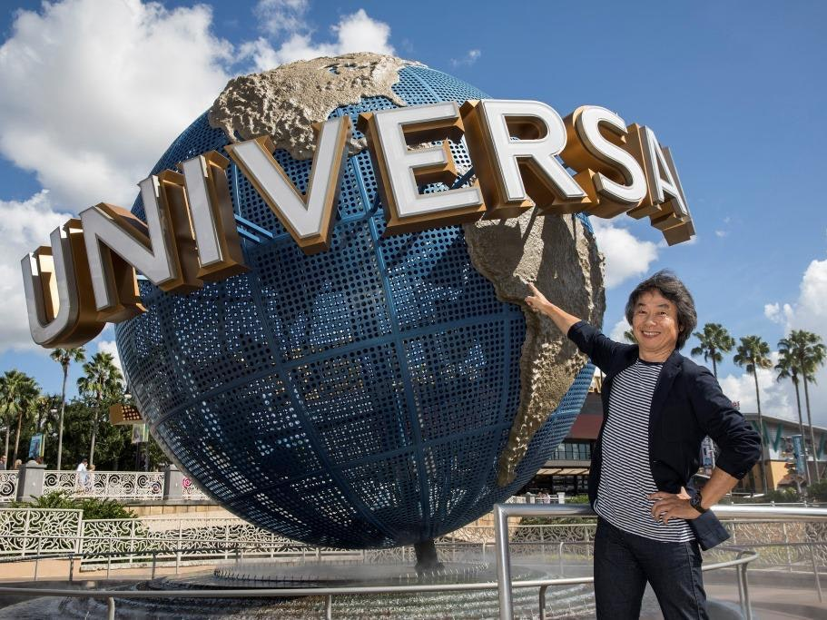 Miyamoto will bring Mario to Universal Studios soon.