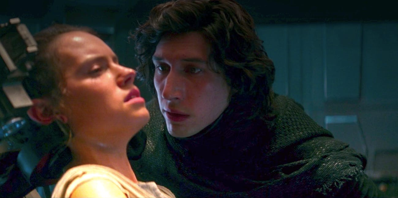 kylo ren interrogates rey force awakens