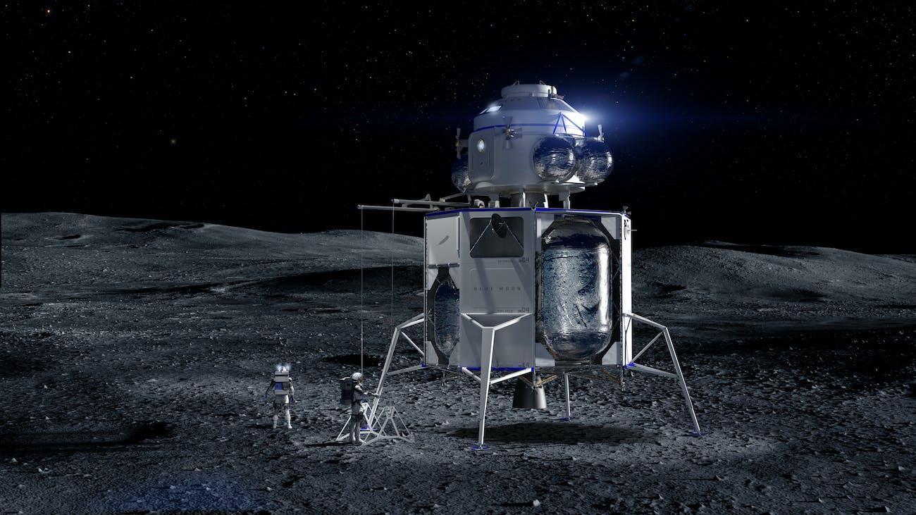 Blue Moon on the moon.