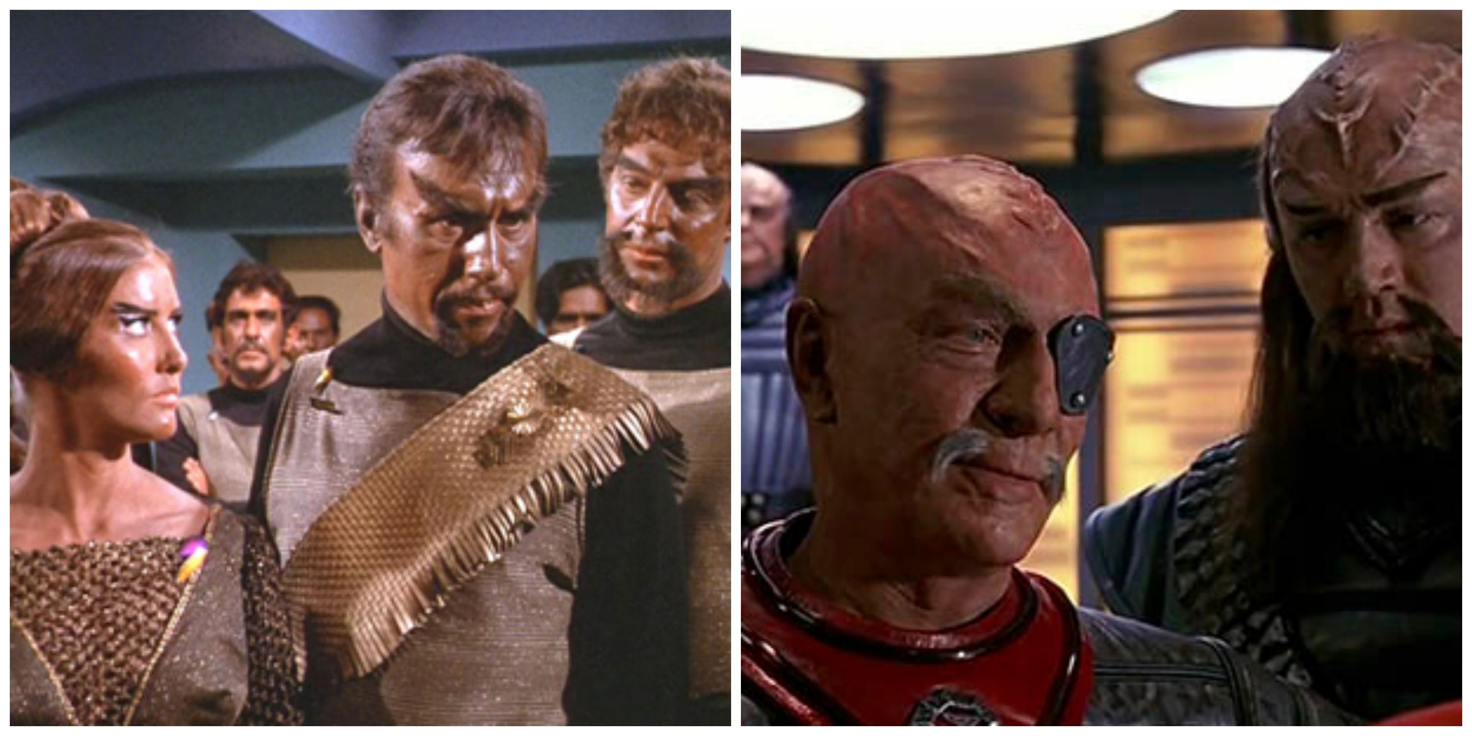 LEFT: Classic Klingons. RIGHT: Klingons in 'The Undiscovered Country'.