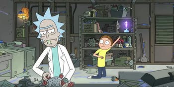 Morty is real excited about that crystal.