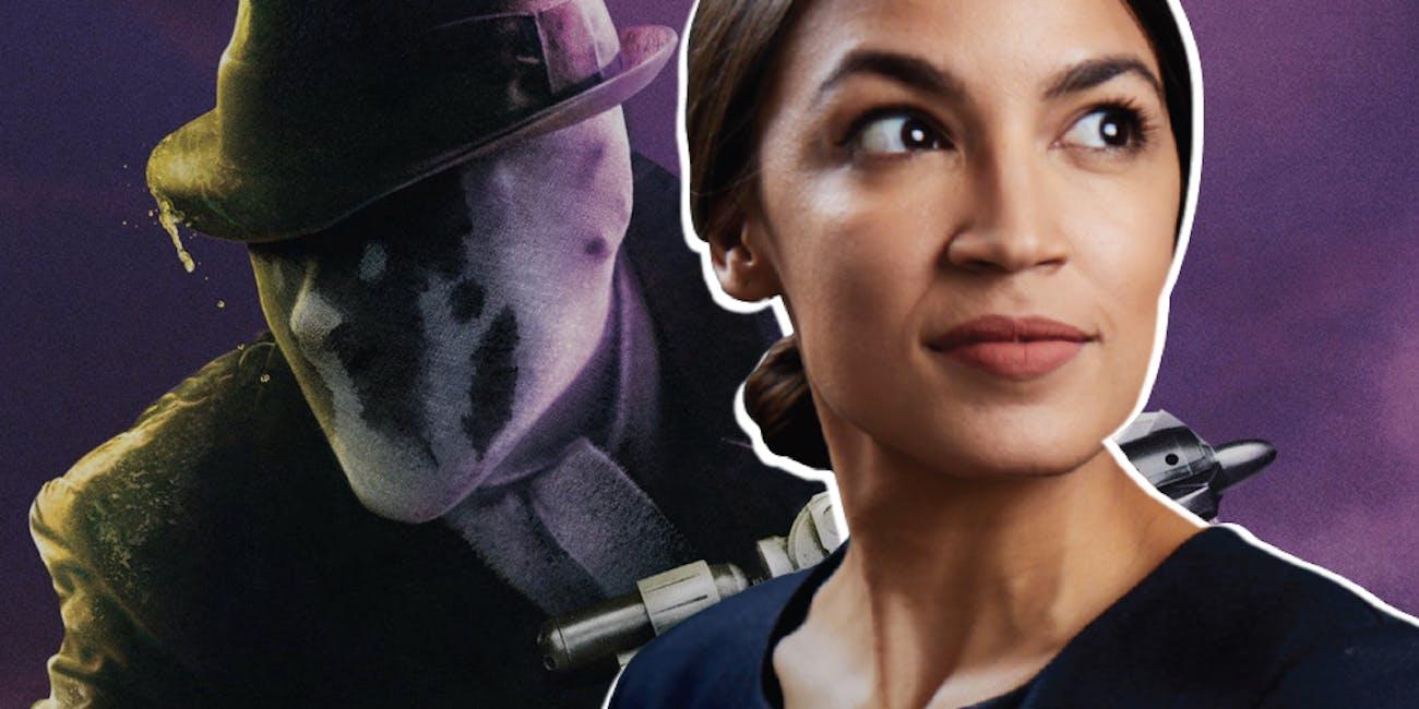 Alexandria Ocasio-Cortez Watchmen Rorschach