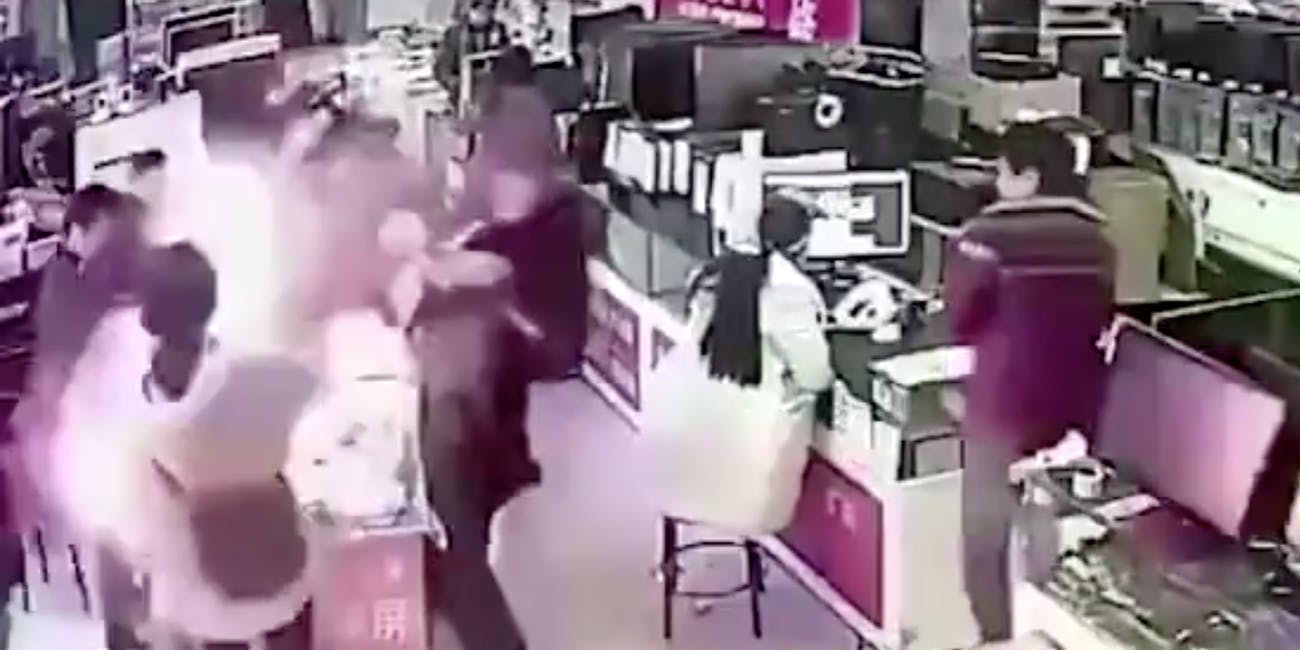 iPhone Exploding in Store