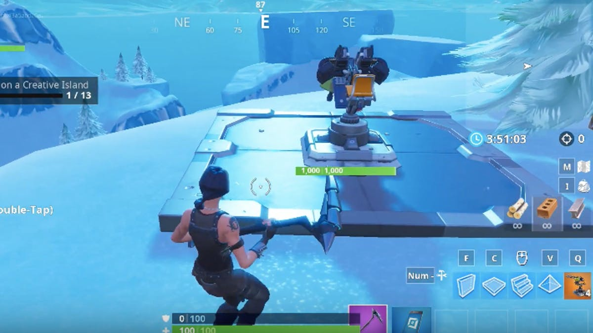 fortnite place devices on creative island how to complete challenge 13 inverse - fortnite lucid dreams creative code