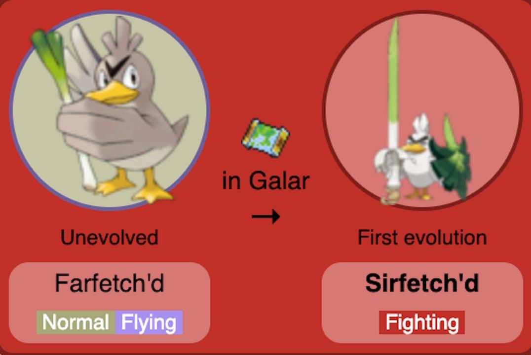 farfetch'd sirfetch'd pokemon evolution
