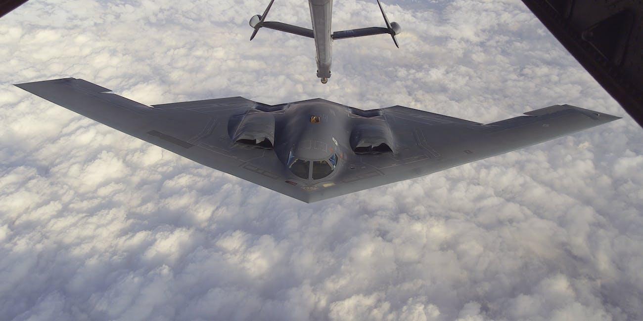 """Northrop (later Northrop Grumman) B-2 """"Spirit"""", also known as the """"Stealth Bomber"""""""