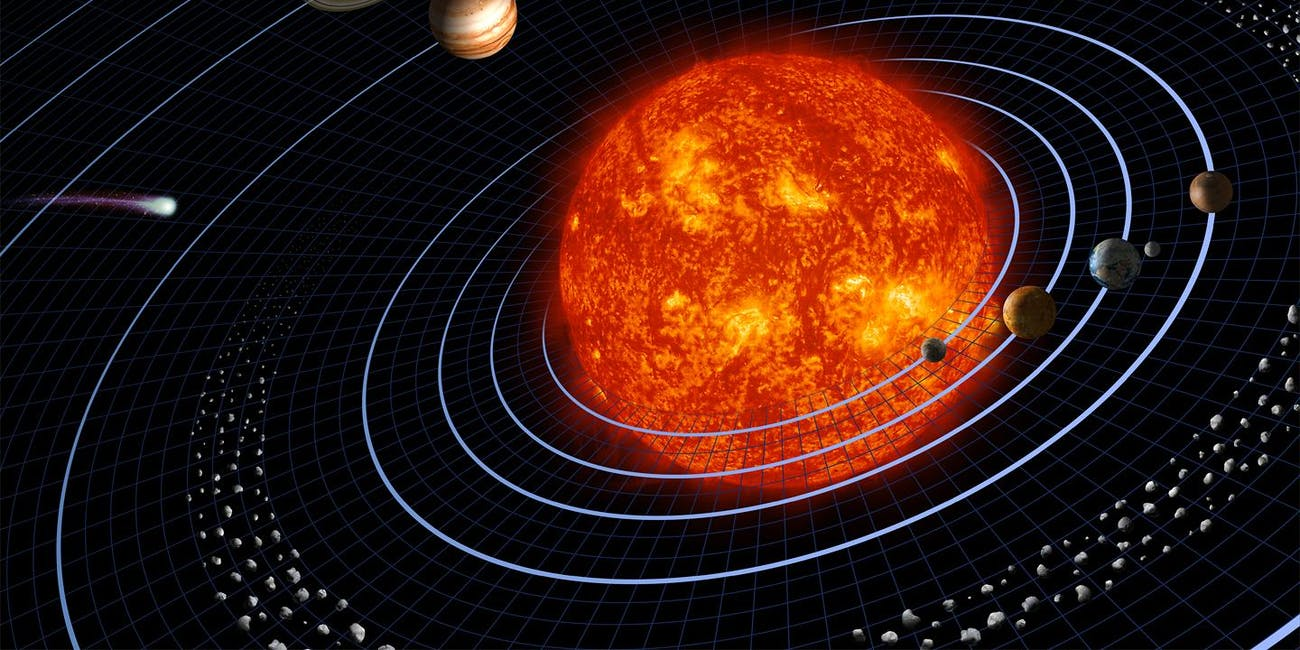 The solar system, a small fraction of the galaxy.
