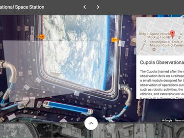 ISS google street view cupola