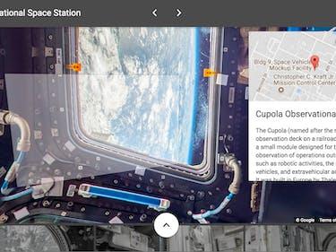 ISS google street view cupola