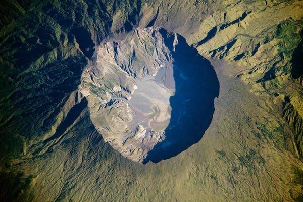 Mount Tambora's crater